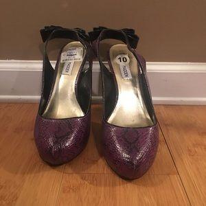 Purple Sling-back Heels